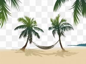 Vector Hammock Hanging On The Coconut Tree - Arecaceae Stock Photography Royalty-free PNG