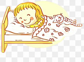 Line Art Drawing - Cartoon Yellow Line Child Drawing PNG