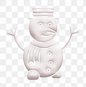 Blackandwhite Happy - Christmas Icon Snow Icon Snowman Icon PNG