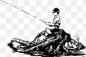 Boy Fishing - Fishing Rods Drawing Clip Art PNG