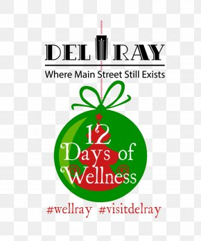 Del Ray Logo Health, Fitness And Wellness Brand Christmas Ornament PNG