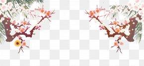 Plum Border - Plum Blossom PNG