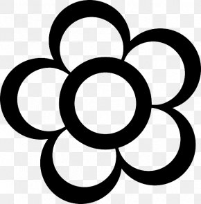 Simple Flower Drawing - Flower Free Content Outline Clip Art PNG