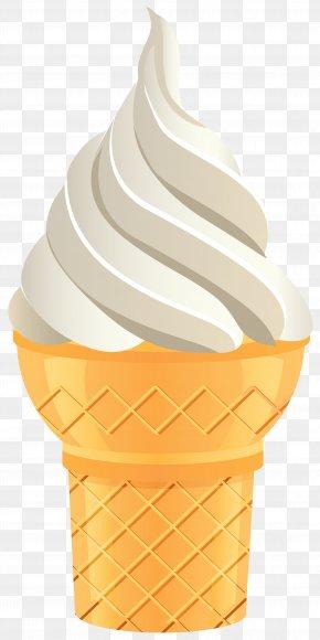 Vanilla Ice Cream Cone Transparent Clip Art Image - Ice Cream Cone Flavor Cup PNG