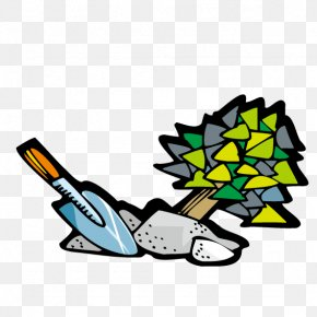 With A Shovel Digging Up Tree - Tree Shovel Euclidean Vector Illustration PNG