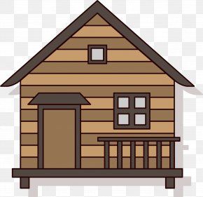 Cartoon Forest Hut - Log Cabin House Cartoon Cottage PNG