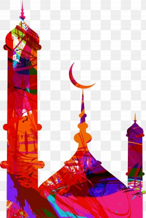 Colorful City Building - Eid Mubarak Eid Al-Fitr Eid Al-Adha Mosque PNG