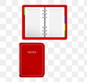 Red Notebook Notepad - Laptop Red Notebook Notepad PNG