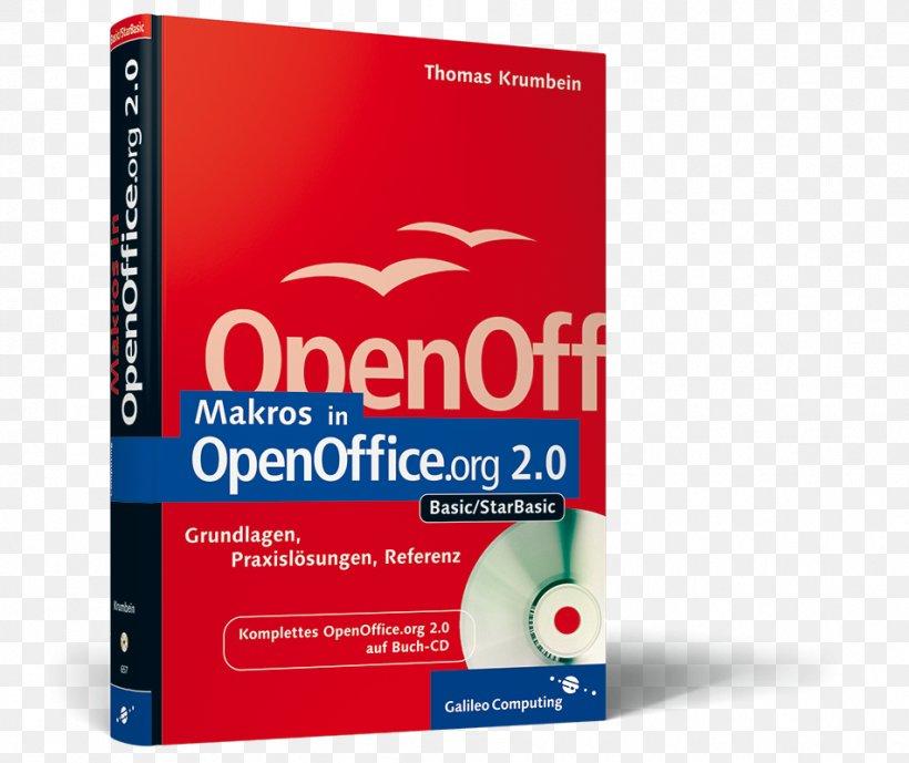 OpenOffice.org 2.0: Einstieg Und Umstieg ; [kompakte Einführung In Alle Module ; Komplettes OpenOffice.org 2.0 Auf Buch-CD ; Das Handbuch] Makros In OpenOffice.org 3, PNG, 951x800px, Apache Openoffice, Brand, Macro, Openoffice, Openoffice Calc Download Free