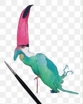 Creative Watercolor Parrot .rar - Parrot Watercolor Painting Illustrator Illustration PNG