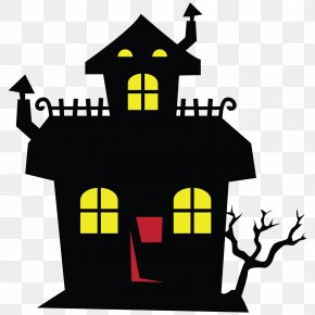 Mansion Cliparts - Haunted Attraction Halloween Free Content House Clip Art PNG