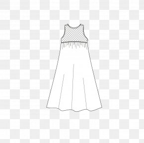 Hand-painted Dresses - Paper Dress Textile White Pattern PNG