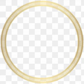 Gold Round Deco Border Transparent Clip Art Image - Circle Area Point Angle PNG