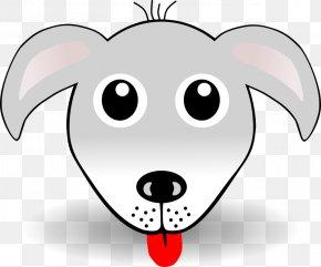 Silly Cartoon Face - Dog Puppy Facebook Clip Art PNG