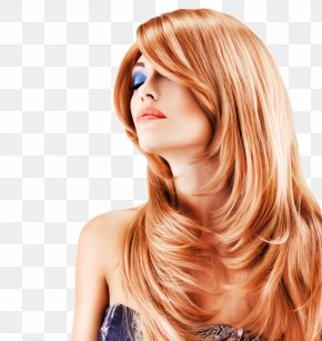 Beauty Brown Hair - Hair Face Hairstyle Blond Hair Coloring PNG