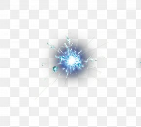 Blue Lightning Star - Body Piercing Jewellery Computer Wallpaper PNG