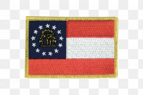 Flag - Flag Patch Georgia Embroidered Patch Rectangle PNG
