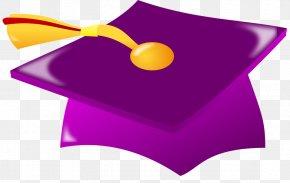 Graduation Scroll Cliparts - Square Academic Cap Graduation Ceremony Purple Clip Art PNG