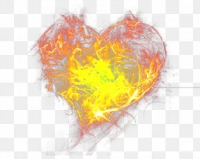 Heart Fire Wallpaper - Fire Heart Wallpaper PNG