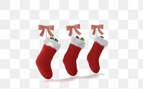 Santa's Socks - Christmas Stocking Santa Claus Christmas Decoration PNG