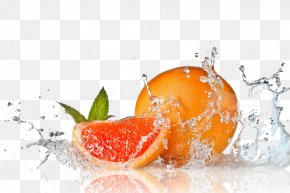 Fruit Water Splash Free Download - Orange Juice Fruit PNG