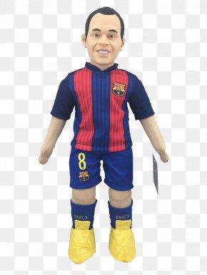 Fc Barcelona - Andrés Iniesta FC Barcelona Doll Figurine Mascot PNG
