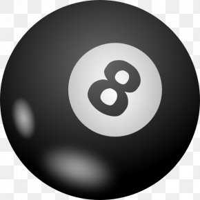 8 Ball Pool Transparent - Pool Billiard Ball Eight-ball Billiards Clip Art PNG