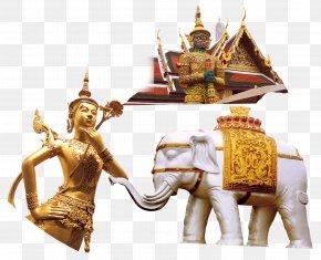 Thai Buddha Statue Of White Elephant Decoration - Thailand Thai Cuisine PNG