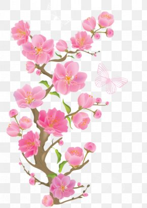 Spring Cut Flowers - Cherry Blossom PNG