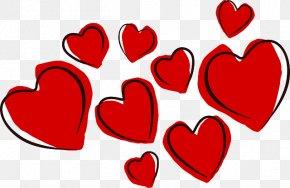 Cartoon Love Heart - Heart Valentines Day Clip Art PNG