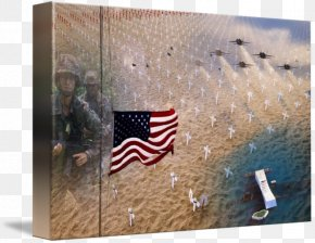 Marine Corps War Memorial - Gallery Wrap Canvas Art Printmaking Flag PNG