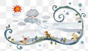 Hand-painted Squally Weather - Hail Weather Cloud Thunderstorm PNG