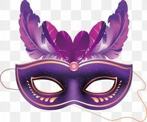 Purple Mask Vector - Carnival Of Venice Brazilian Carnival Mask Masquerade Ball PNG