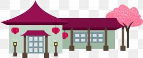Flat Cherry Pavilion - Japanese Cuisine Japanese Architecture Architectural Style PNG