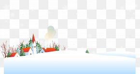 Posters Snowy Winter Background Material - Sky Winter Wallpaper PNG