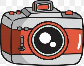 Red Gray Camera - Digital Cameras Camera Lens PNG
