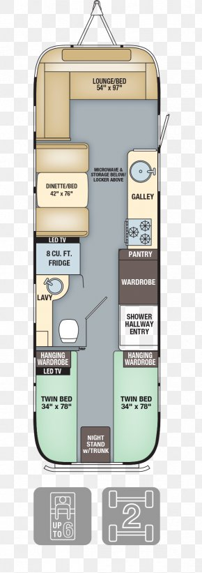 Bed Plan - Airstream Caravan Floor Plan Campervans Interior Design Services PNG
