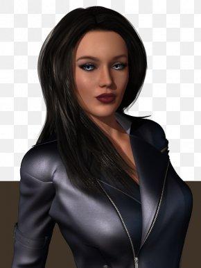 Megan Fox - Black Hair Brown Hair Outerwear Long Hair Hair Coloring PNG