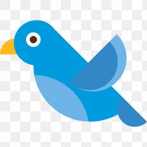 Birds - Bird Beak Flying Blue Icon PNG
