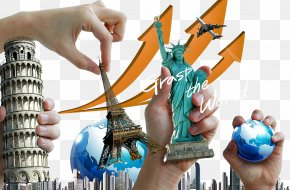 In Kind, Statue Of Liberty Is The World's Most Famous Landmark - Leaning Tower Of Pisa Statue Of Liberty Eiffel Tower Landmark PNG