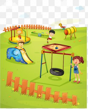 Children Playing Vector Design Material - Schoolyard Playground Royalty-free Illustration PNG