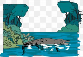 Jungle Crocodile Vector - Amazon Rainforest Jungle Euclidean Vector Illustration PNG