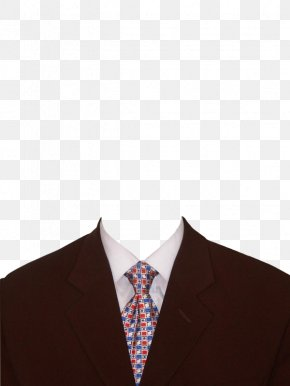 Checkered Black Suit And Tie - Necktie Suit Clothing Template PNG