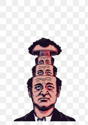 Layers Skull Man - Bill Murray Groundhog Day Phil Film Poster PNG
