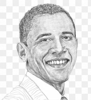 Sketch American Portrait Painting By Former President Obama - Barack Obama United States Painting Drawing Sketch PNG