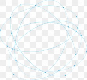 Blue Abstract Geometric Lines Circling Science And Technology - Circle Point Angle Area Pattern PNG