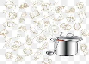 Kitchen Utensils Vector Illustration - Euclidean Vector Illustration PNG