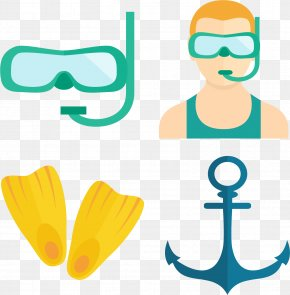 Professional Diving Athlete - Underwater Diving Free-diving Diving Mask Clip Art PNG