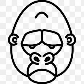 Gorilla - Western Lowland Gorilla Drawing T-shirt Orangutan PNG