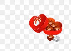 Red Chocolate Gift Box - Chocolate Bar Chocolate Box Art Clip Art PNG